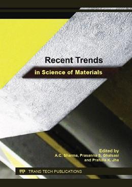 Abbildung von Sharma / Ghalsasi | Recent Trends in Science of Materials | 1. Auflage | 2016 | Volume 1141 | beck-shop.de