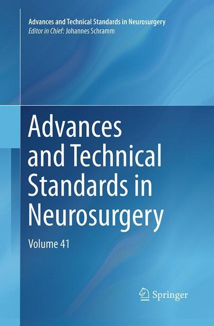 Abbildung von Schramm | Advances and Technical Standards in Neurosurgery | Softcover reprint of the original 1st ed. 2014 | 2016