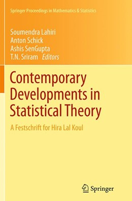Abbildung von Lahiri / Schick / SenGupta / Sriram | Contemporary Developments in Statistical Theory | Softcover reprint of the original 1st ed. 2014 | 2016
