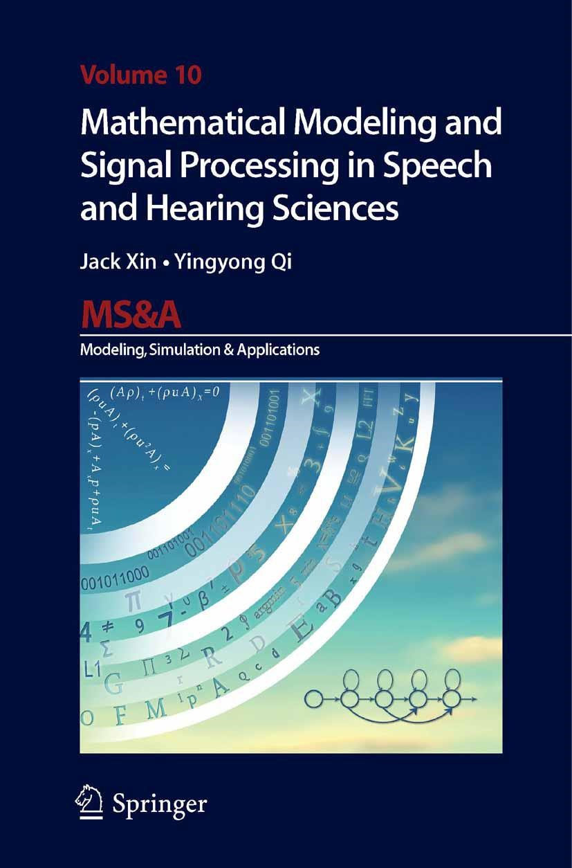 Abbildung von Xin / Qi | Mathematical Modeling and Signal Processing in Speech and Hearing Sciences | Softcover reprint of the original 1st ed. 2014 | 2016