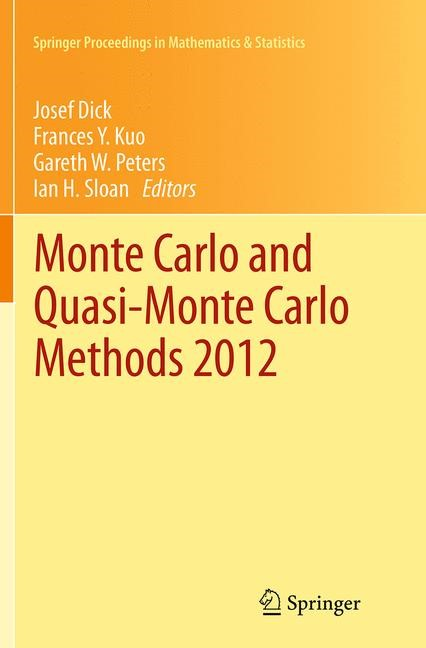 Abbildung von Dick / Kuo / Peters / Sloan | Monte Carlo and Quasi-Monte Carlo Methods 2012 | Softcover reprint of the original 1st ed. 2013 | 2016
