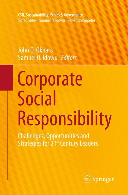 Corporate Social Responsibility | Okpara / Idowu | Softcover reprint of the original 1st ed. 2013, 2016 | Buch (Cover)