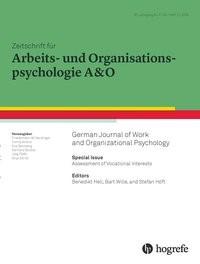 Abbildung von Hell / Höft / Wille | Assessment of Vocational Interests | 2016