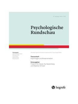 Abbildung von Hesse / Sassenberg / Schwan | Psychologie und Wissensmedien | 2016 | Themenheft der Psychologischen...