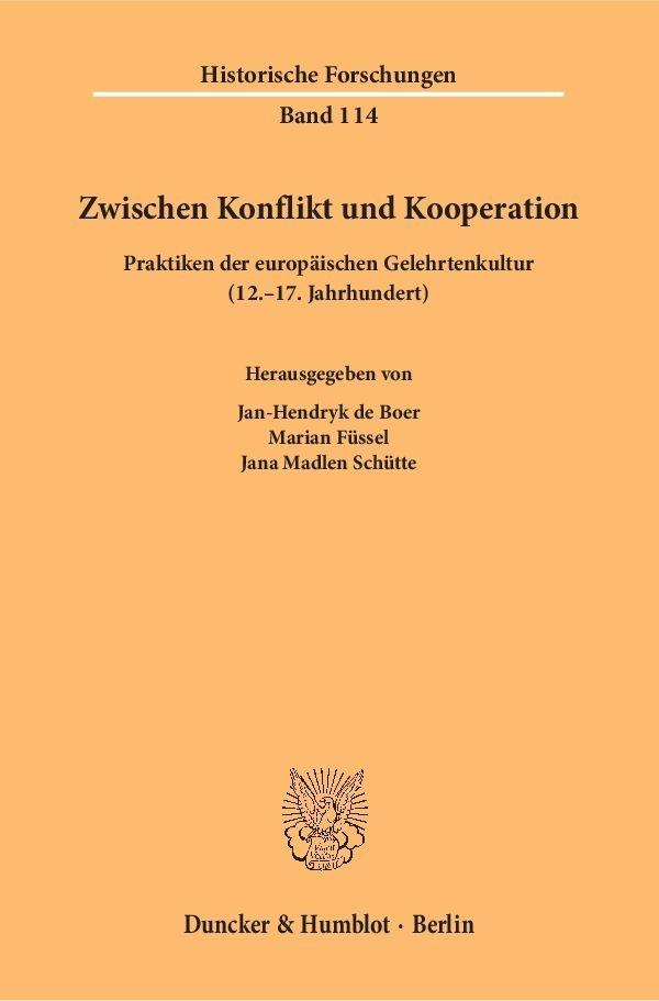 Abbildung von Boer / Füssel / Schütte | Zwischen Konflikt und Kooperation. | 2016