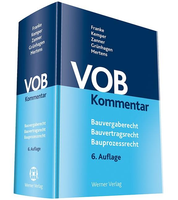 Abbildung von Franke / Kempe / Zanner / Grünhagen   VOB Kommentar   6. Auflage   2017