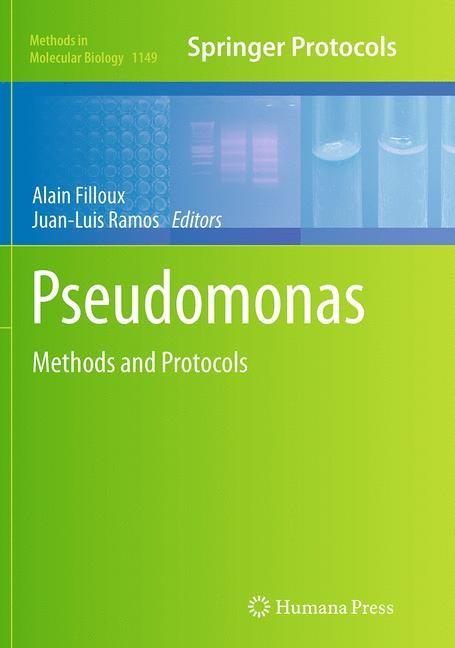 Abbildung von Filloux / Ramos | Pseudomonas Methods and Protocols | Softcover reprint of the original 1st ed. 2014 | 2016