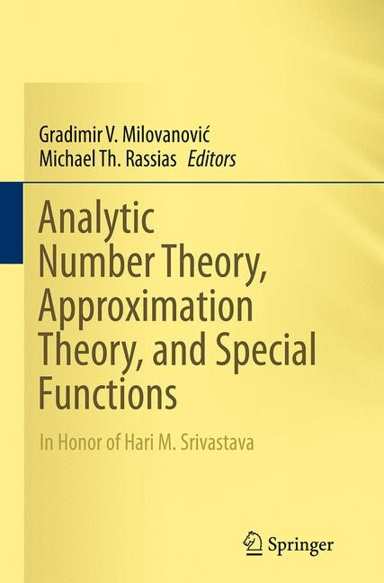 Abbildung von Milovanovic / Rassias | Analytic Number Theory, Approximation Theory, and Special Functions | Softcover reprint of the original 1st ed. 2014 | 2016