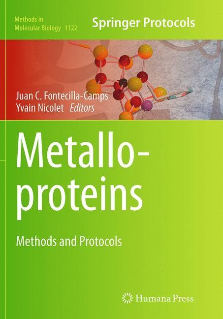 Abbildung von Fontecilla-Camps / Nicolet | Metalloproteins | Softcover reprint of the original 1st ed. 2014 | 2016