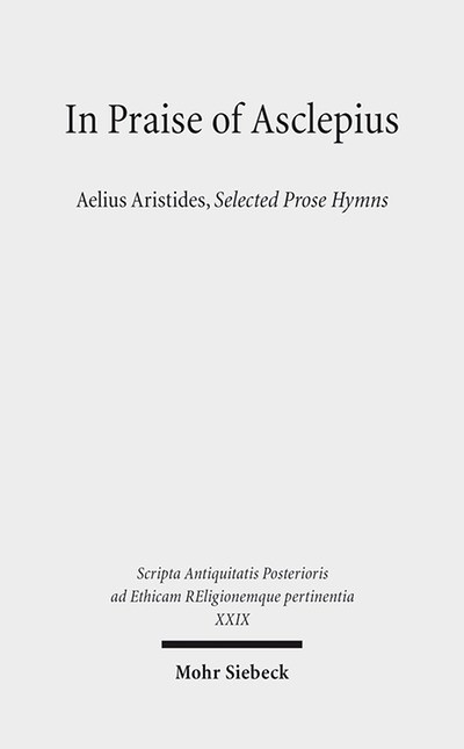 Abbildung von Russell / Trapp / Nesselrath | In Praise of Asclepius | 2016