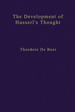 Abbildung von de Boer | The Development of Husserl's Thought | 1978 | 76