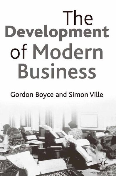 The Development of Modern Business | Boyce / Ville | 2002, 2002 | Buch (Cover)
