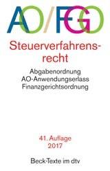 Abgabenordnung: AO/FGO | 41. Auflage, 2017 | Buch (Cover)