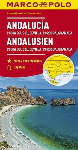 Abbildung von MARCO POLO Karte Andalusien, Costa del Sol, Sevilla, Cordoba, Granada 1:200 000 | 7. Auflage | 2017