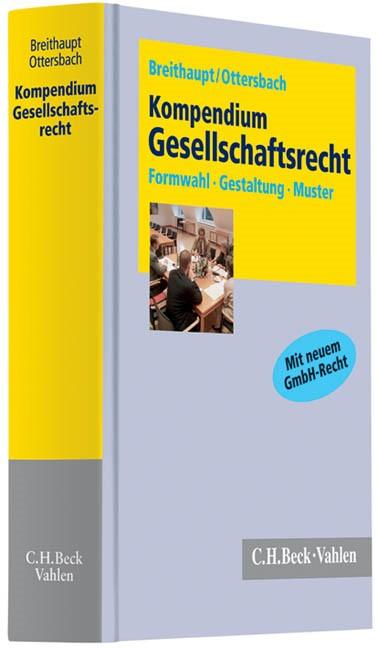 Kompendium Gesellschaftsrecht | Breithaupt / Ottersbach, 2010 | Buch (Cover)