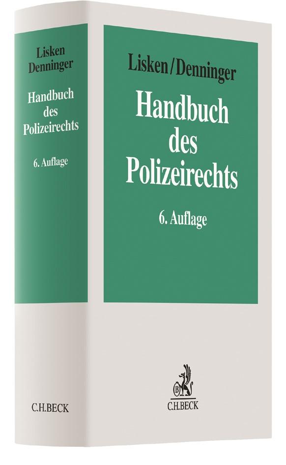 Handbuch des Polizeirechts   Lisken / Denninger   6., vollständig überarbeitete Auflage, 2018   Buch (Cover)