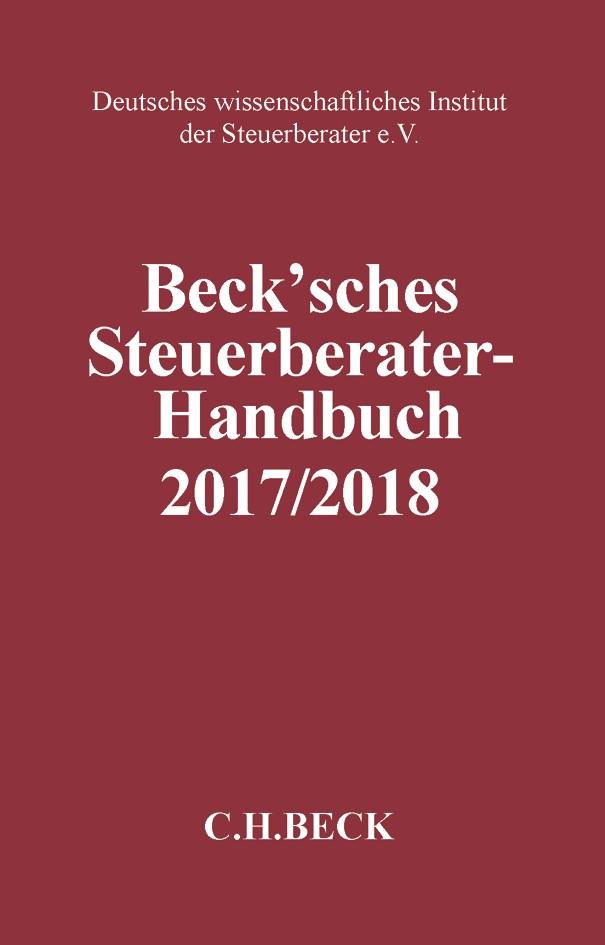 Beck'sches Steuerberater-Handbuch 2017/2018 | 16. Auflage, 2017 | Buch (Cover)