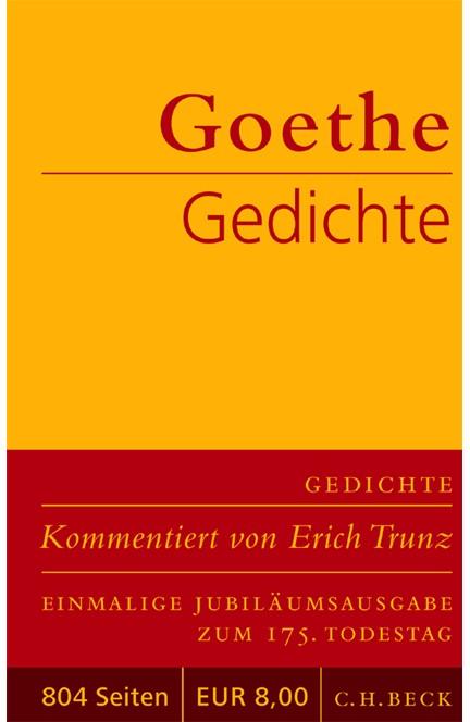 Cover: Johann Wolfgang von Goethe, Gedichte