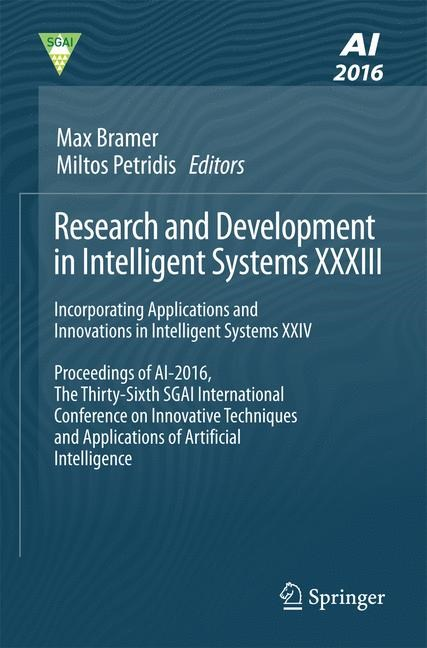 Research and Development in Intelligent Systems XXXIII | Bramer / Petridis, 2016 | Buch (Cover)
