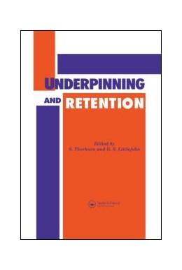 Abbildung von LITTLEJOHN | Underpinning and Retention | 1993 | 1992