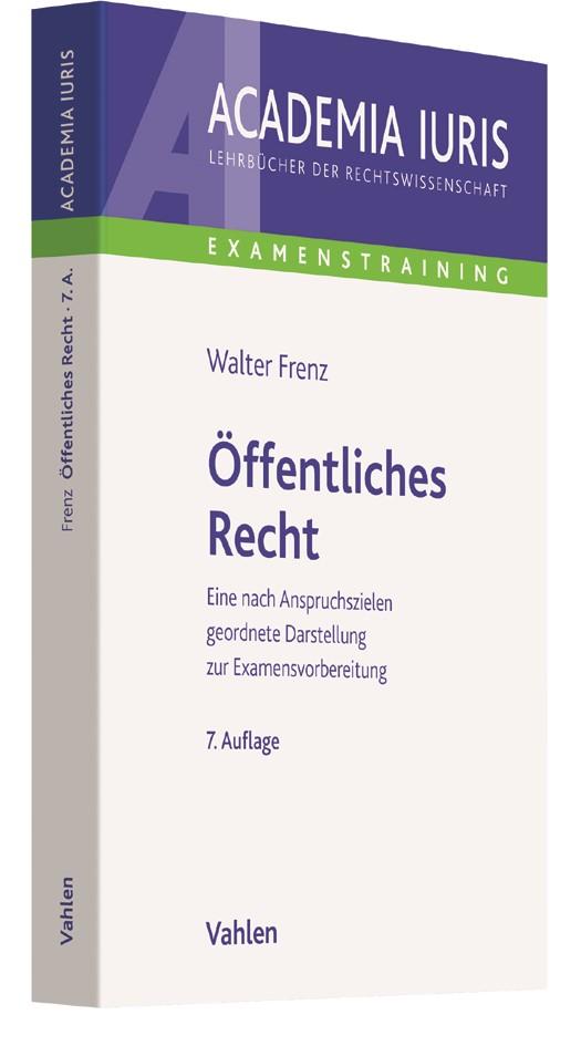 Öffentliches Recht | Frenz | 7., neu bearbeitete Auflage, 2017 | Buch (Cover)