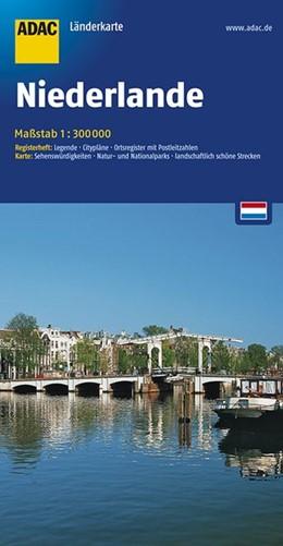 Abbildung von ADAC LänderKarte Niederlande 1 : 300 000 | 5. Auflage, Laufzeit bis 2020 | 2016 | Register: Legende, Citypläne, ...