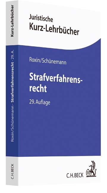Strafverfahrensrecht | Roxin / Schünemann | 29., neu bearbeitete Auflage, 2017 | Buch (Cover)