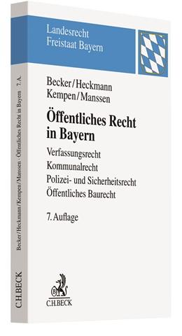 Abbildung von Becker / Heckmann | Öffentliches Recht in Bayern | 7. Auflage | 2017 | beck-shop.de