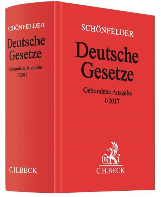 Deutsche Gesetze Gebundene Ausgabe I/2017   Schönfelder, 2017   Buch (Cover)