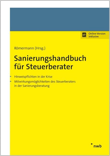 Sanierungshandbuch für Steuerberater | Römermann (Hrsg.), 2016 (Cover)