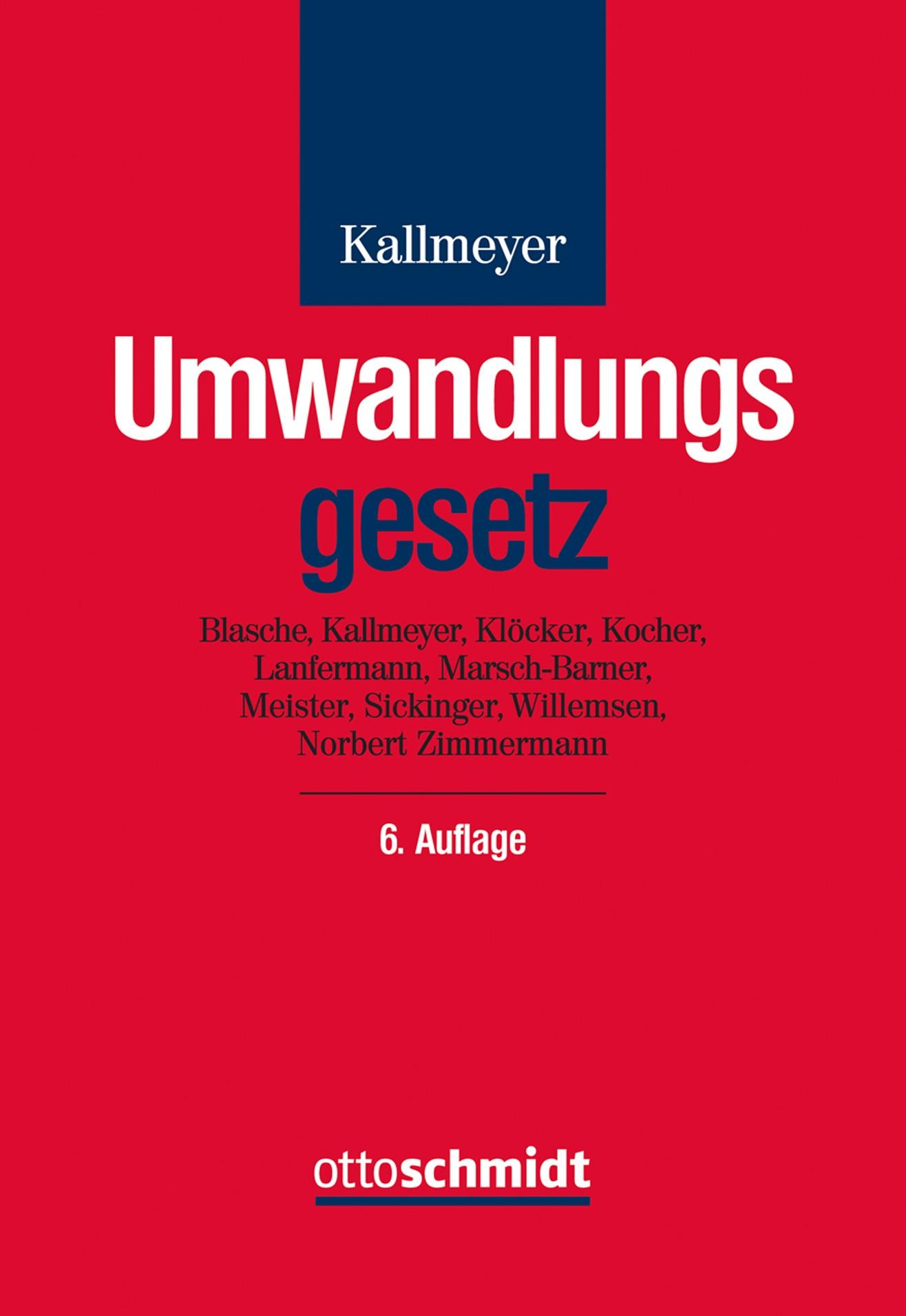Umwandlungsgesetz | Kallmeyer | 6. neu bearbeitete und erweiterte Auflage, 2016 | Buch (Cover)