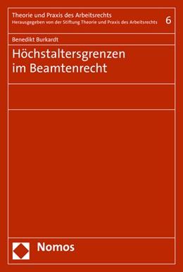 Abbildung von Burkardt | Höchstaltersgrenzen im Beamtenrecht | 1. Auflage | 2016 | 6 | beck-shop.de