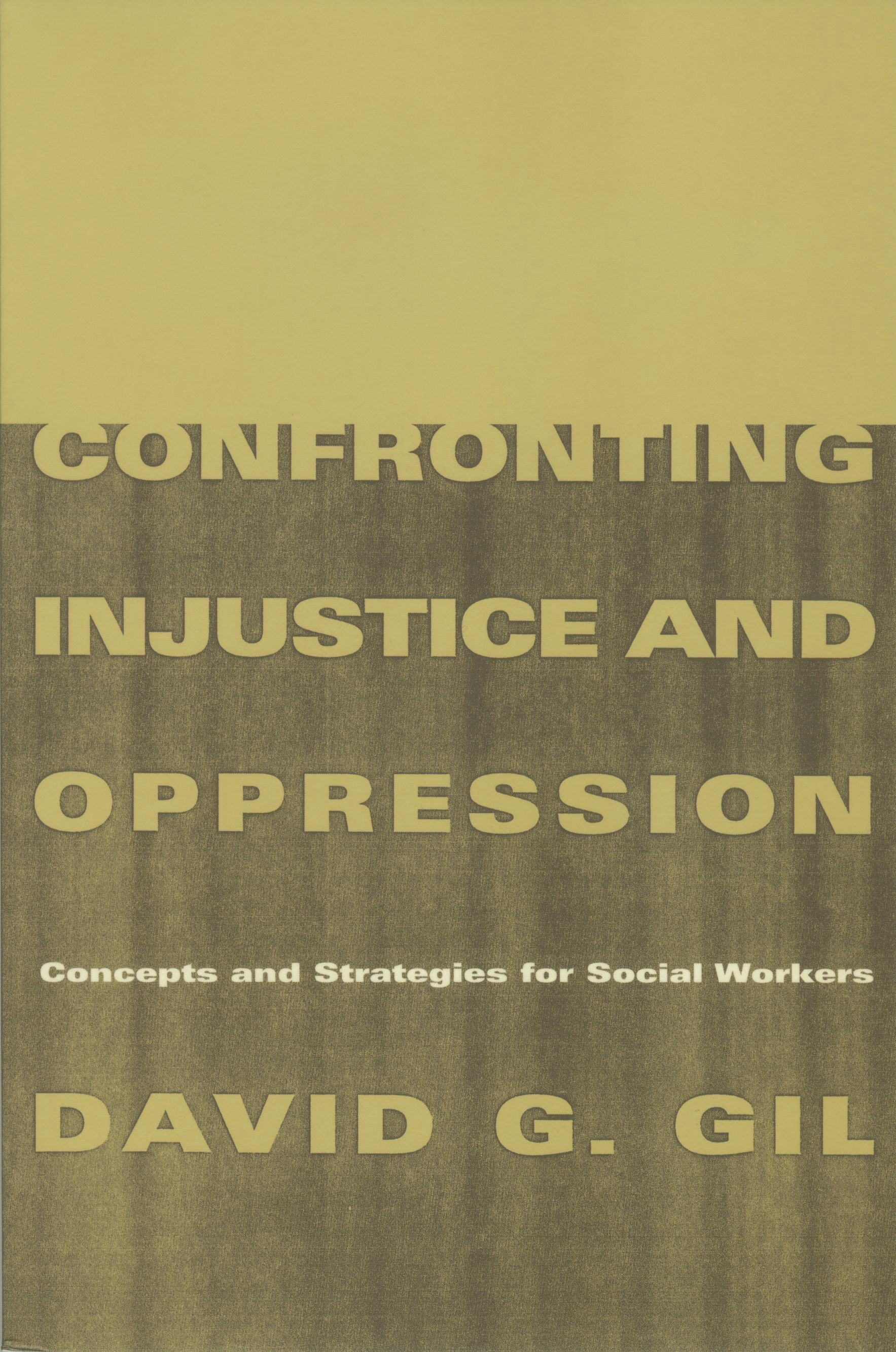 Abbildung von Gil | Confronting Injustice and Oppression | 1998