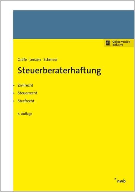 Steuerberaterhaftung | Gräfe / Lenzen / Schmeer (Cover)
