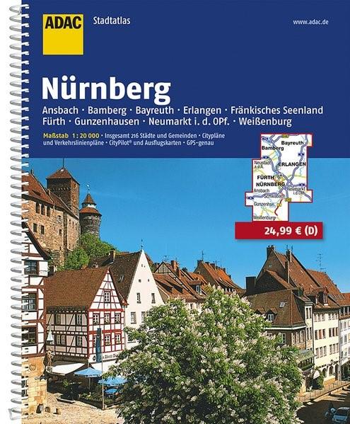 ADAC Stadtatlas Großraum Nürnberg 1 : 20 000   8. Auflage, Laufzeit bis 2020, 2016   Buch (Cover)
