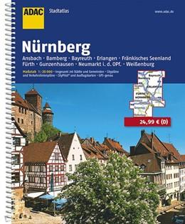 Abbildung von ADAC Stadtatlas Großraum Nürnberg 1 : 20 000 | 8. Auflage, Laufzeit bis 2020 | 2016 | Ansbach, Bamberg, Bayreuth, Er...