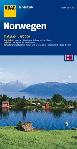 ADAC LänderKarte Norwegen 1 : 750 000 | 11. Auflage, 2016 (Cover)