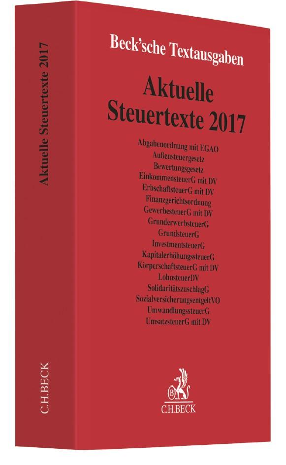Aktuelle Steuertexte 2017 | Buch (Cover)