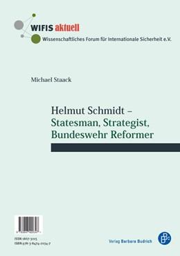 Abbildung von Staack | Helmut Schmidt | 1. Auflage | 2016 | 60 | beck-shop.de