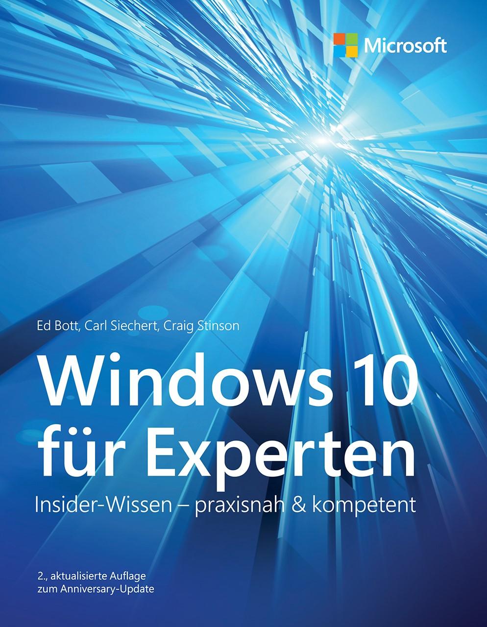 Windows 10 für Experten | Bott / Siechert / Stinson | akt, 2017 | Buch (Cover)