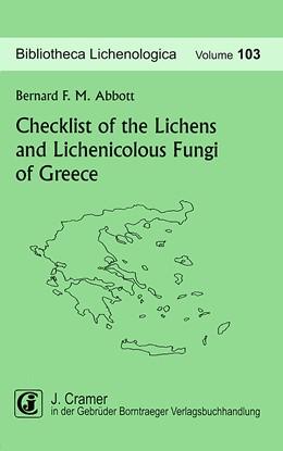 Abbildung von Abbott | Checklist of the Lichens and Lichenicolous Fungi of Greece | 2009 | 103