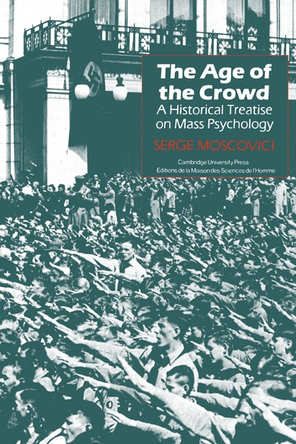 Abbildung von Moscovici   The Age of the Crowd   1985