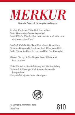 Abbildung von Demand   MERKUR Deutsche Zeitschrift für europäisches Denken - 2016-11   1. Auflage   2016   beck-shop.de