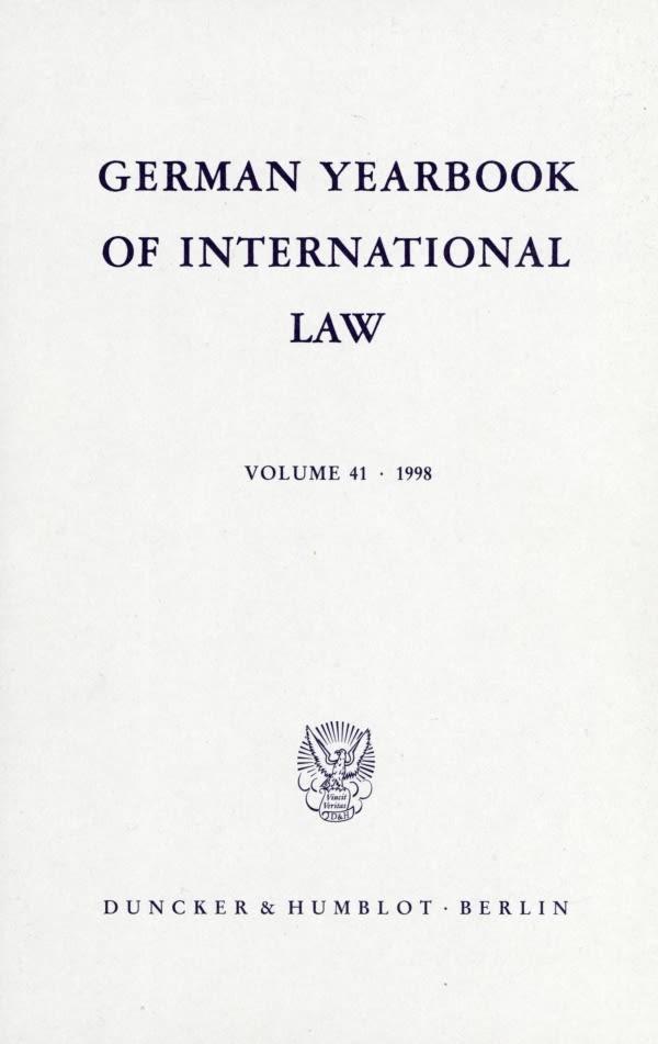 Abbildung von Delbrück / Hofmann / Zimmermann   German Yearbook of International Law / Jahrbuch für Internationales Recht.   1999