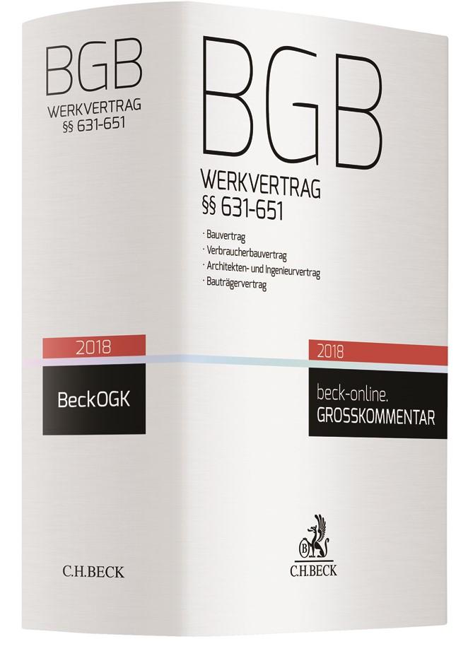 BGB Werkvertrag §§ 631-651, 2017 | Buch (Cover)