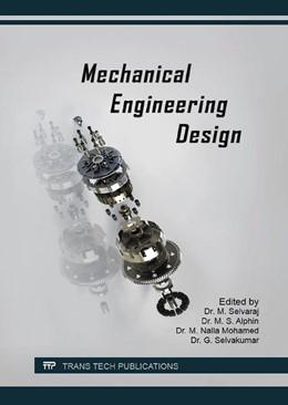 Abbildung von Selvaraj / Alphin | Mechanical Engineering Design | 1. Auflage | 2016 | Volume 852 | beck-shop.de