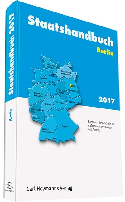 Staatshandbuch Berlin 2017, 2017 | Buch (Cover)