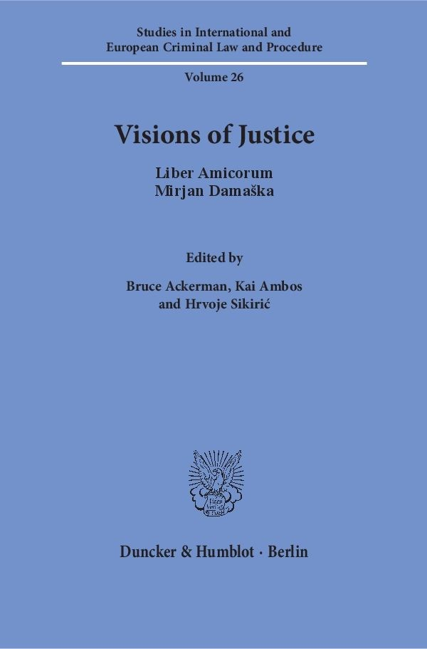 Visions of Justice | Ackerman / Ambos / Sikiric, 2016 | Buch (Cover)