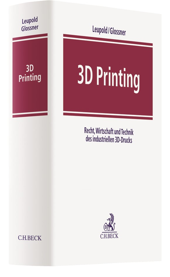 3D Printing | Leupold / Glossner, 2017 | Buch (Cover)