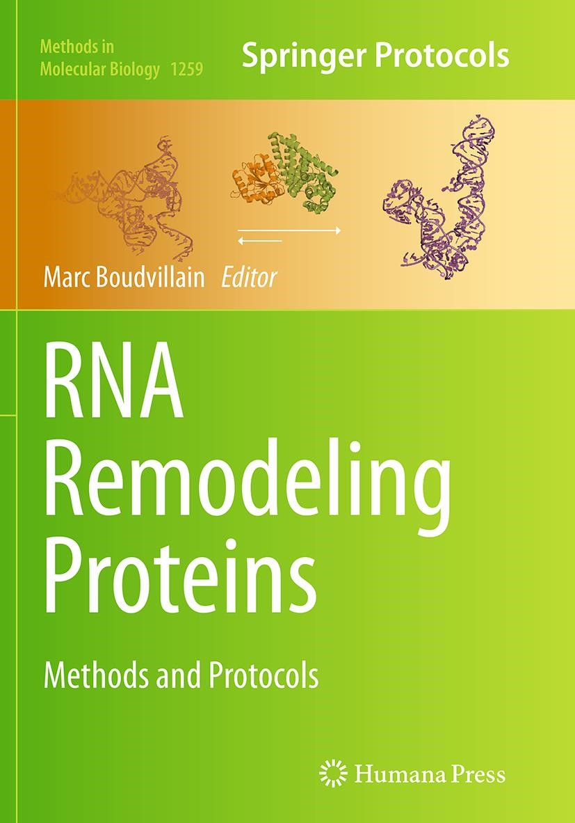 RNA Remodeling Proteins | Boudvillain | Softcover reprint of the original 1st ed. 2015, 2016 | Buch (Cover)